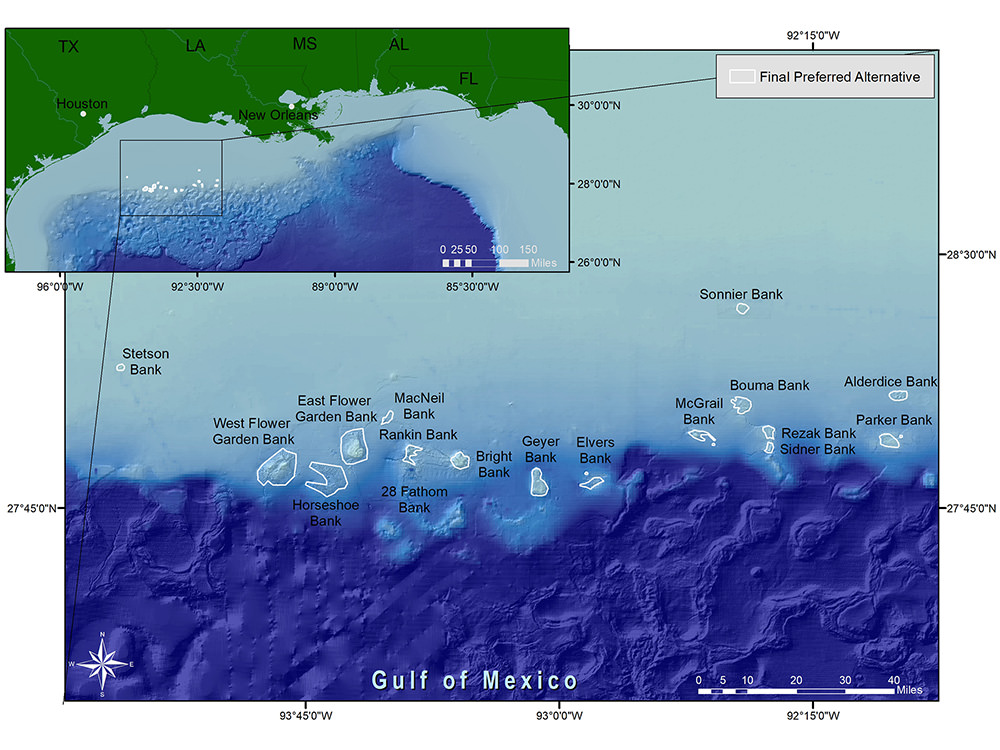 Expansion area of the Flower Garden Banks National Marine Sanctuary. NOAA