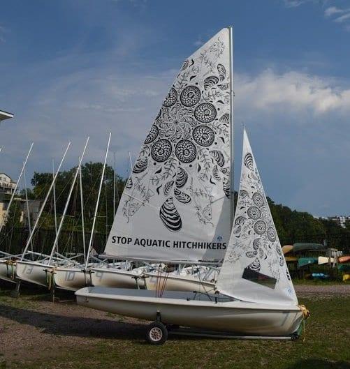Stop Aquatic Hitchhickers Sailboat- newyorkalmanack.com