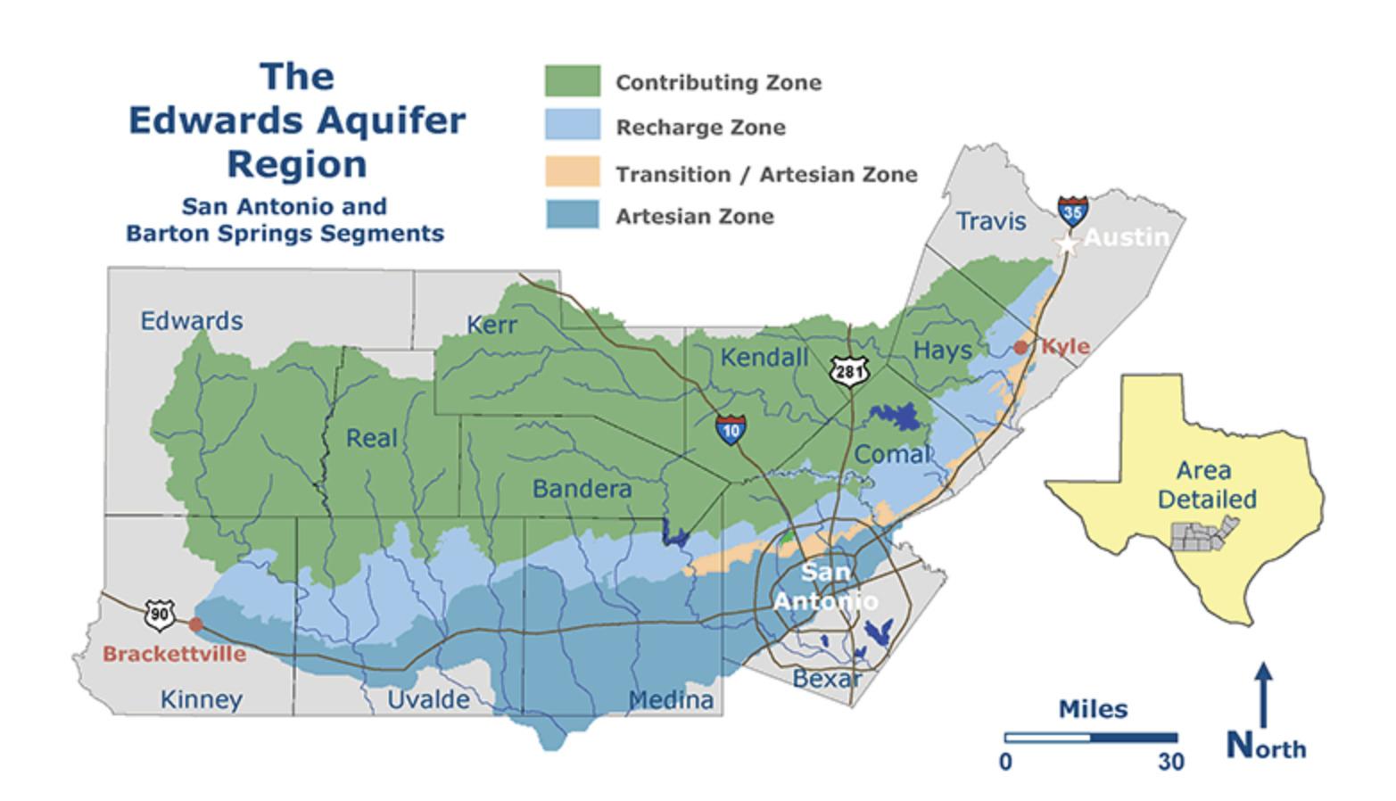 The Edwards Aquifer Region